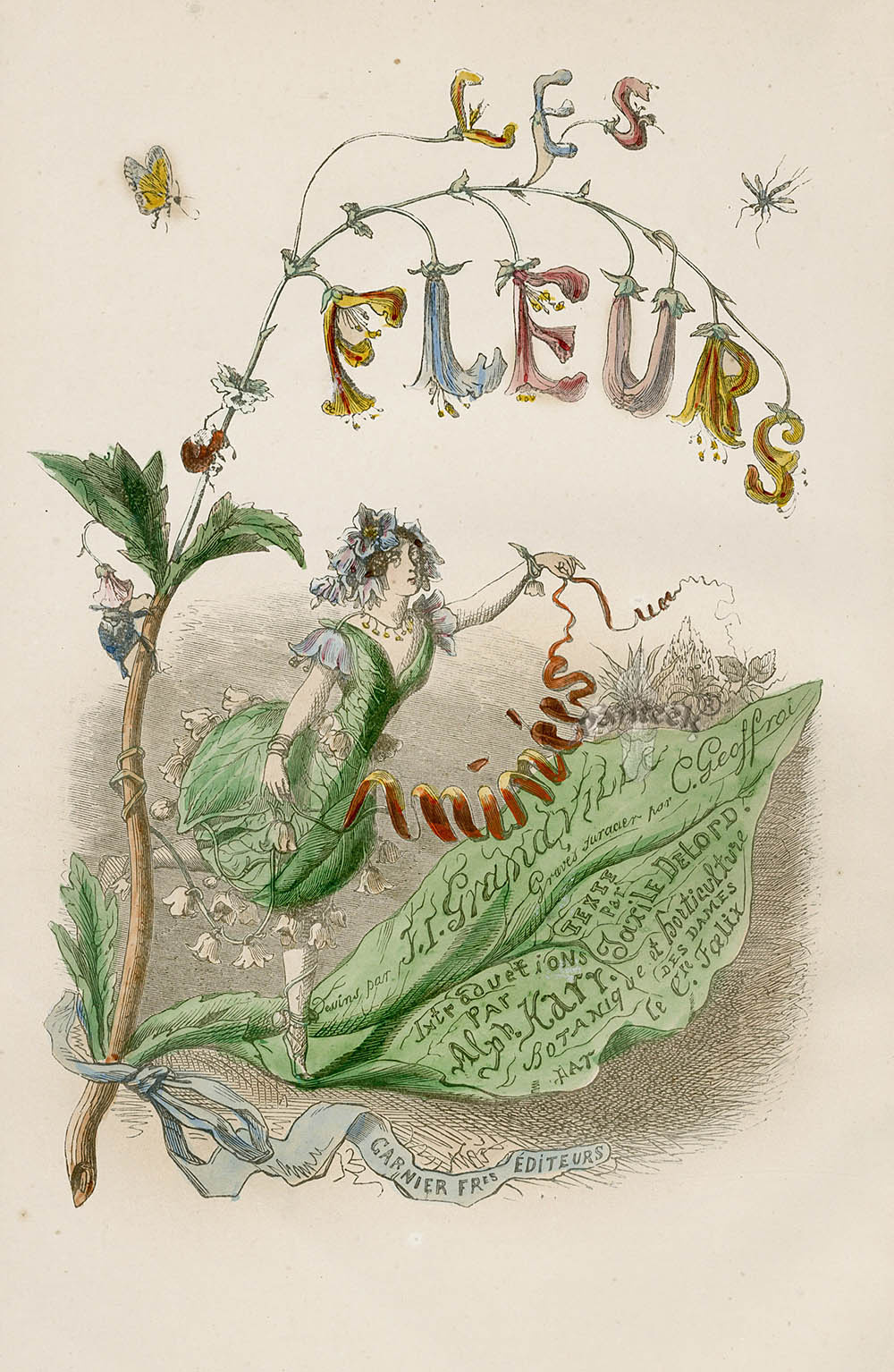 """Jean Inias Isidore (Gerard) Granville. A series of """"Animate Flowers"""". Frontispiece"""