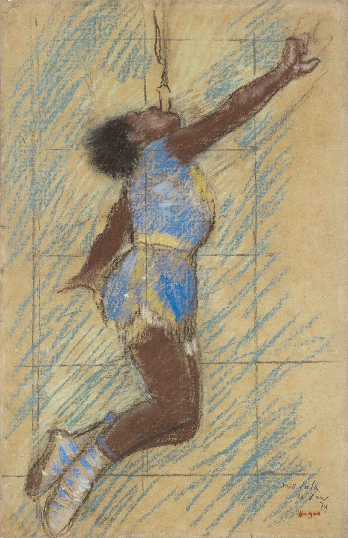 Edgar Degas. Miss La La at the circus Fernando (sketch)