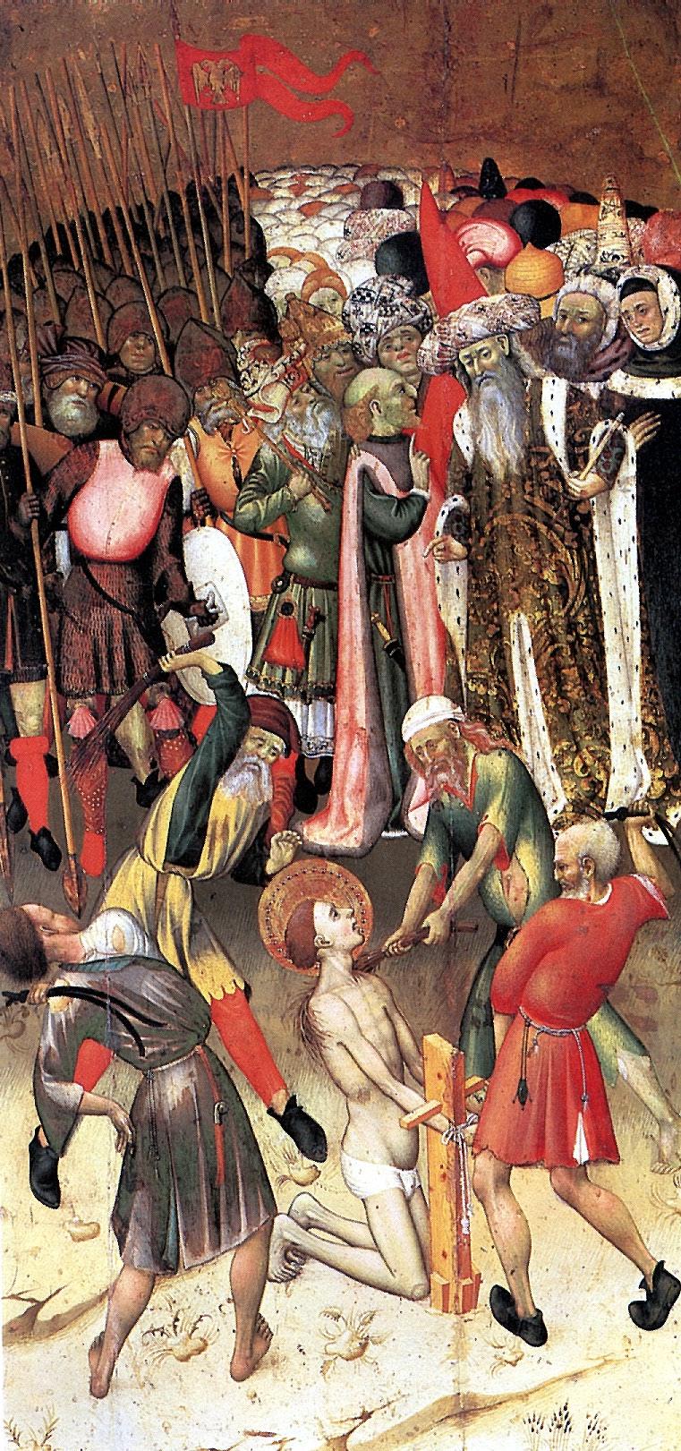 Bernat Martorell. Scene of the martyrdom of St. George