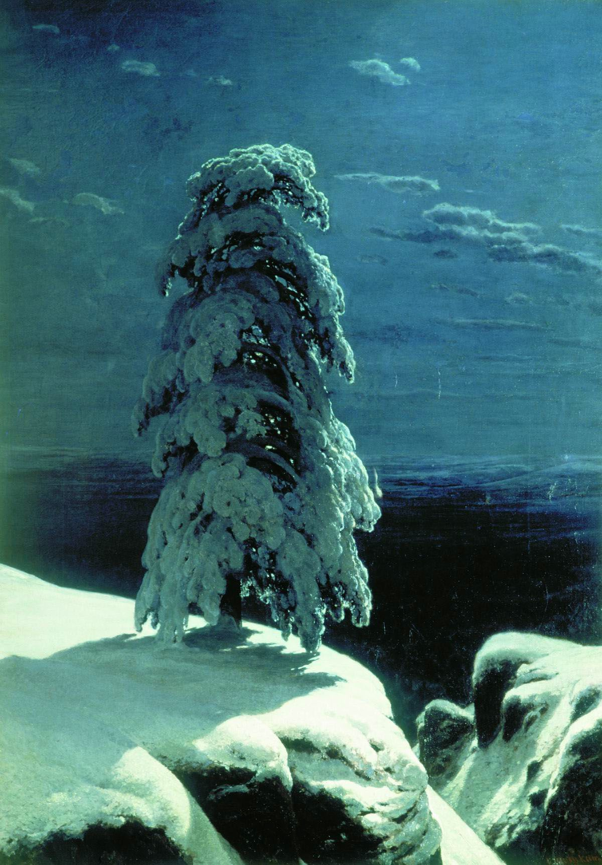 "Ivan Shishkin. ""In the Northern wilderness ..."""