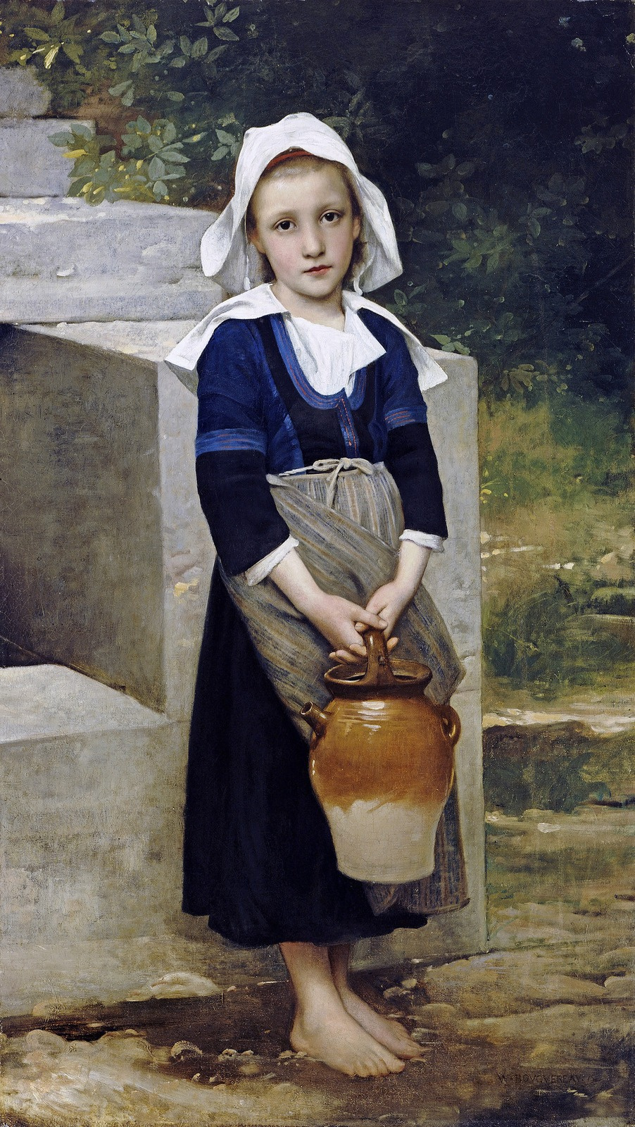 William-Adolphe Bouguereau. Girl with a jug