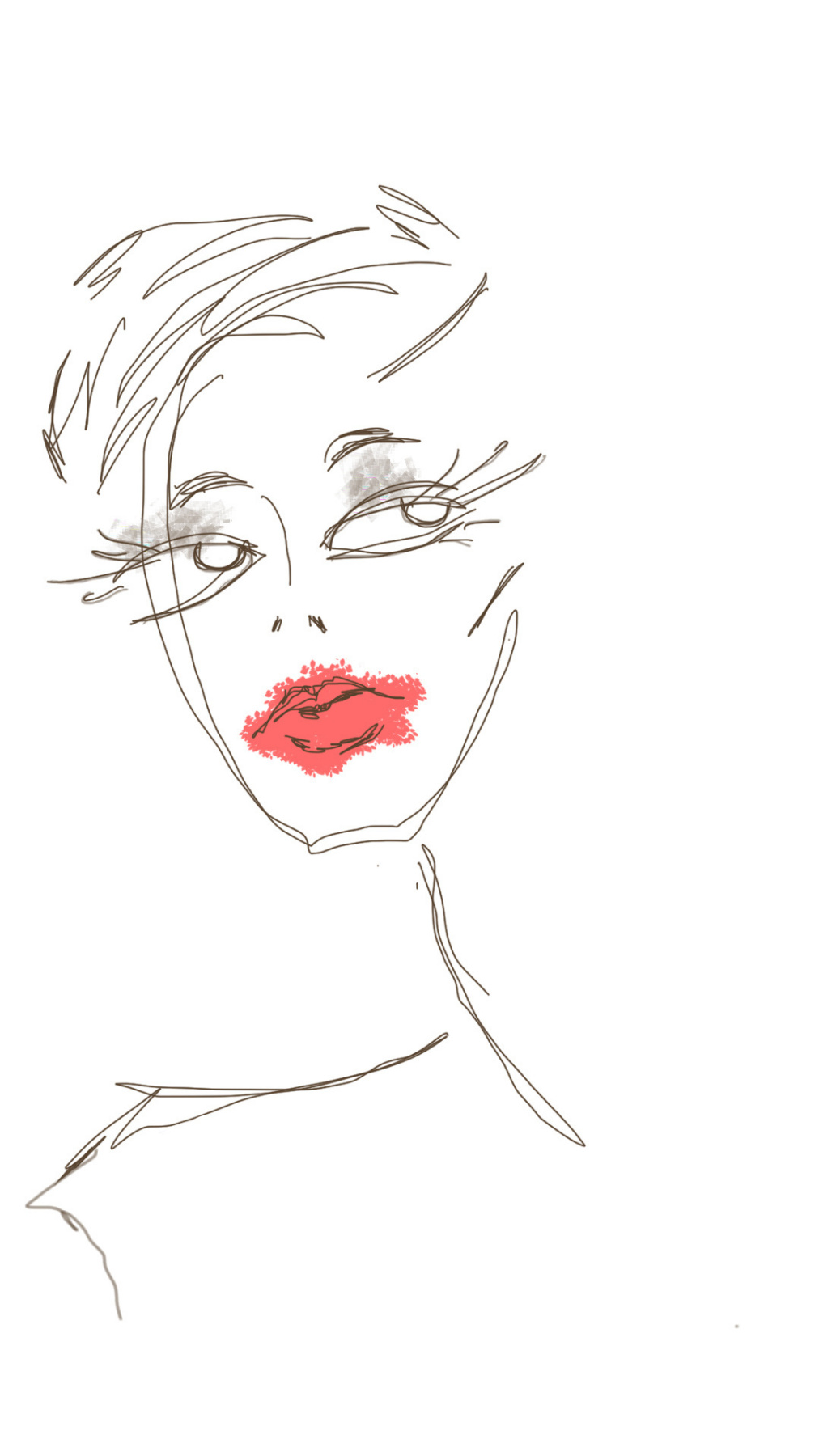 (no name). Red lips