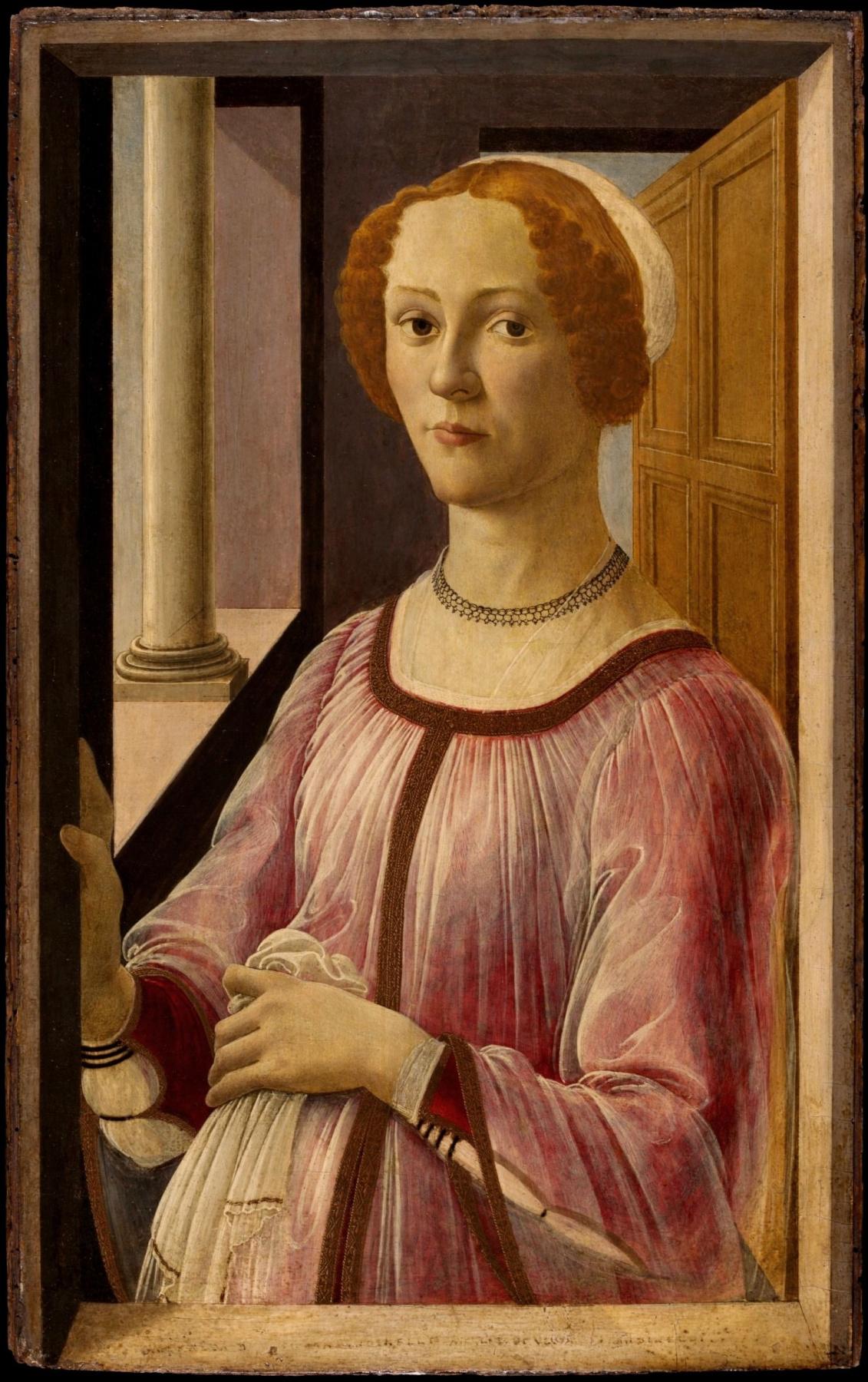 Sandro Botticelli. Portrait of a lady (Smeralda Bandinelli)
