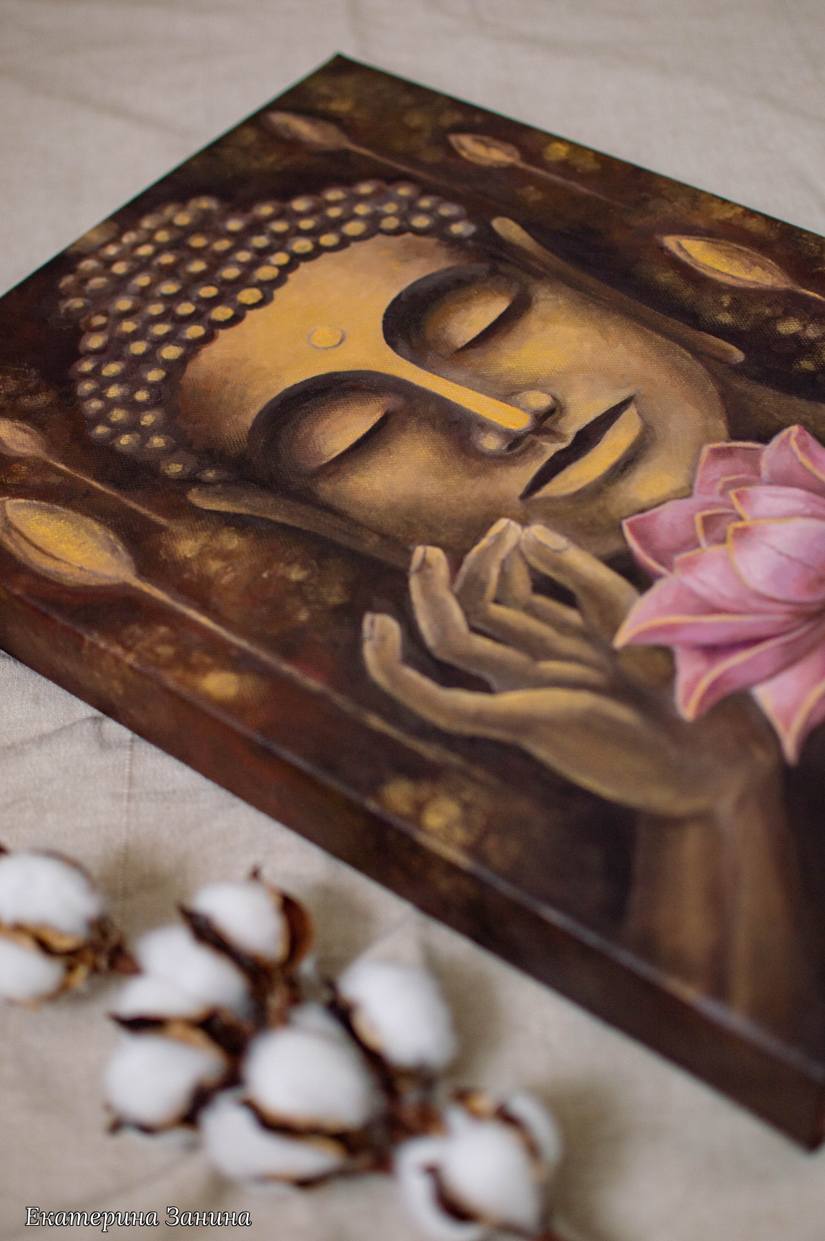 Ekaterina Zanina. Buddha and lotus