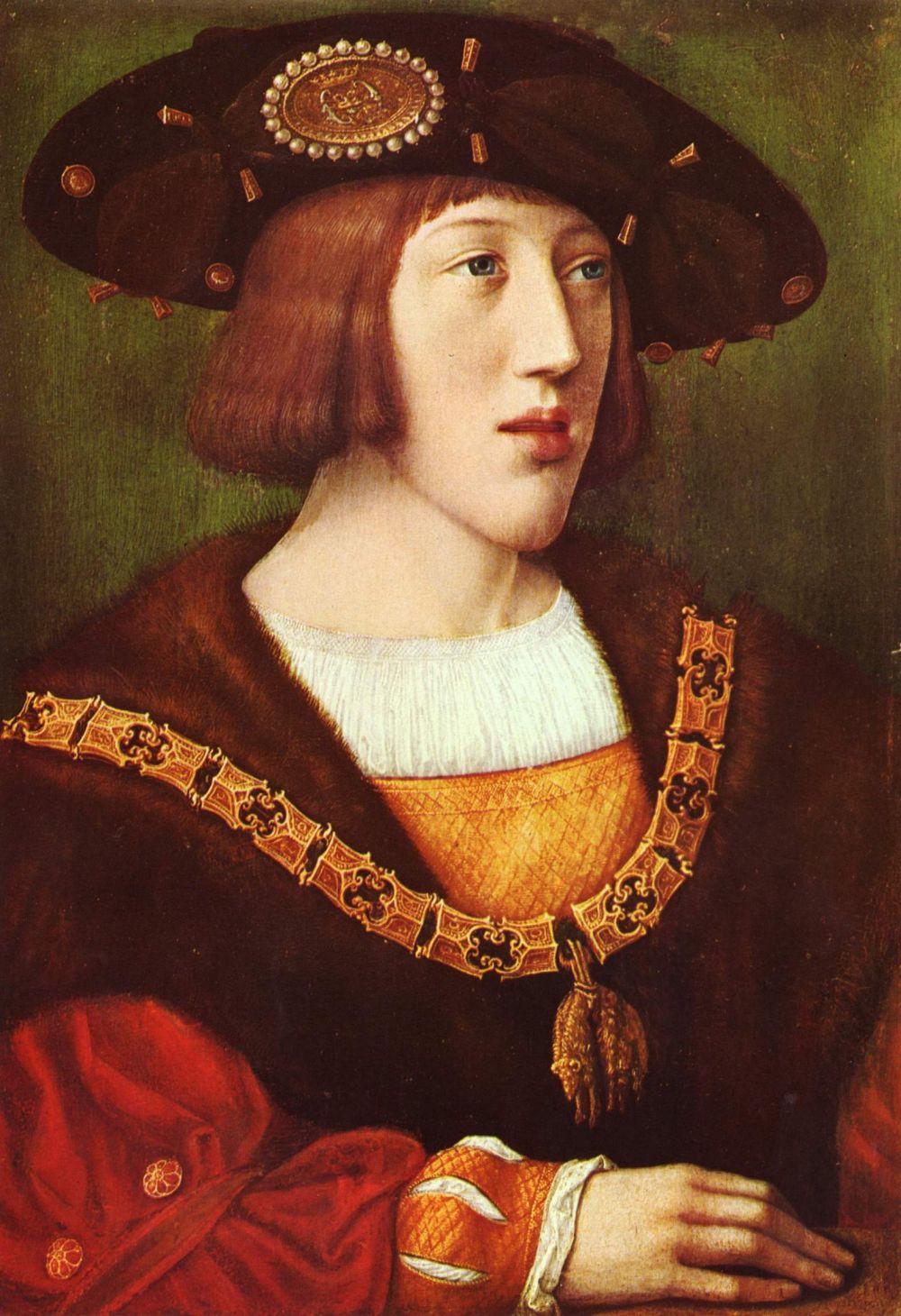 Bernart Van Orley. Portrait of a young Charles V