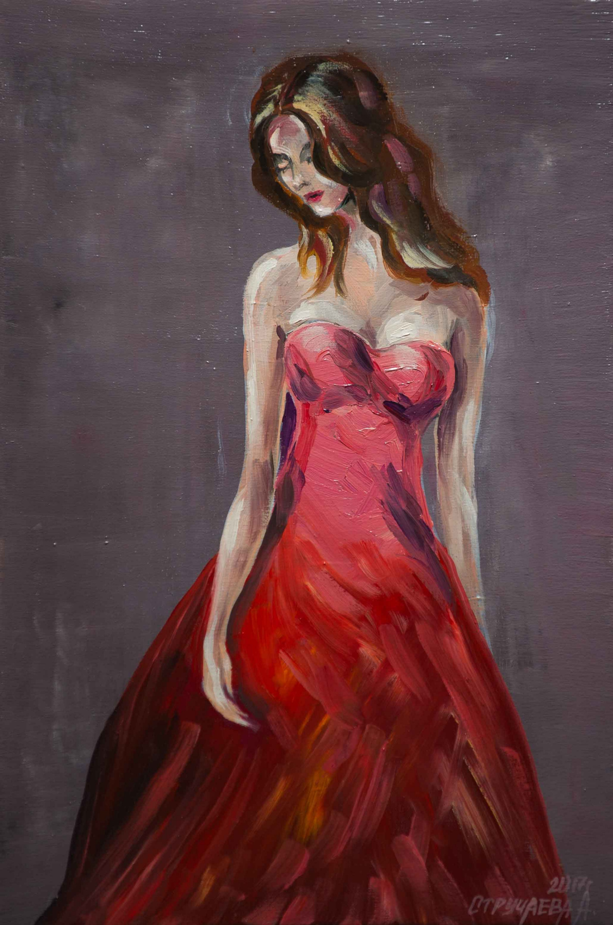 """Alla Struchayeva. The painting """"yearning for passion"""""""