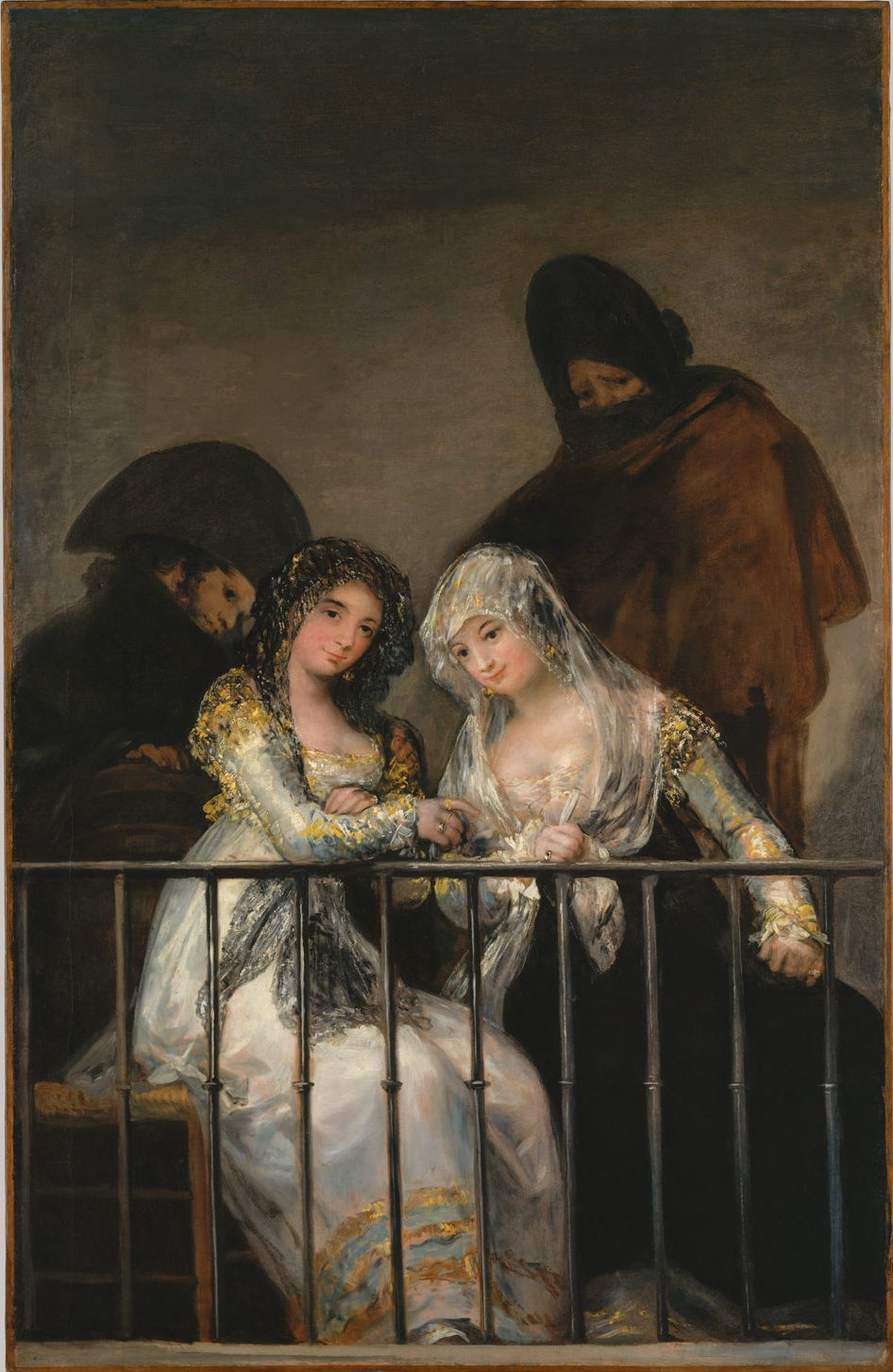 Francisco Goya. Mahi on the balcony
