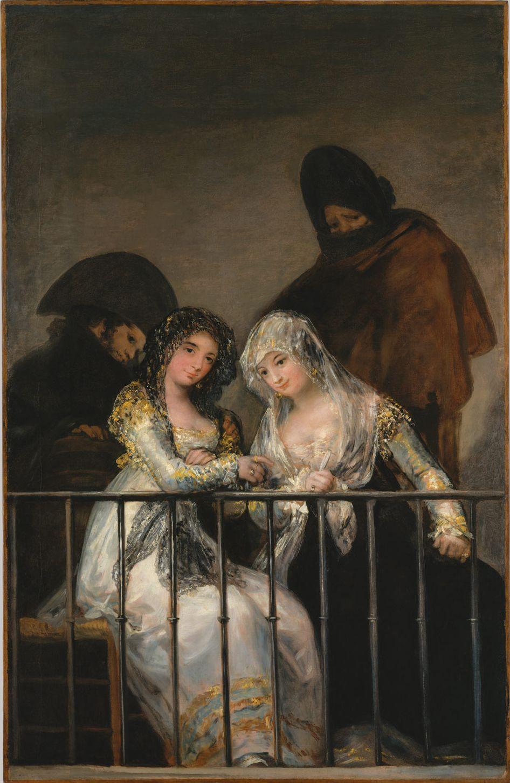 Francisco Goya. Mahi on the balcony