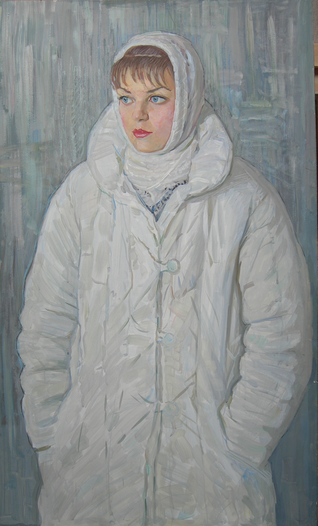Eugene Alexandrovich Kazantsev. Portrait of the teacher Larisa Smirnova.