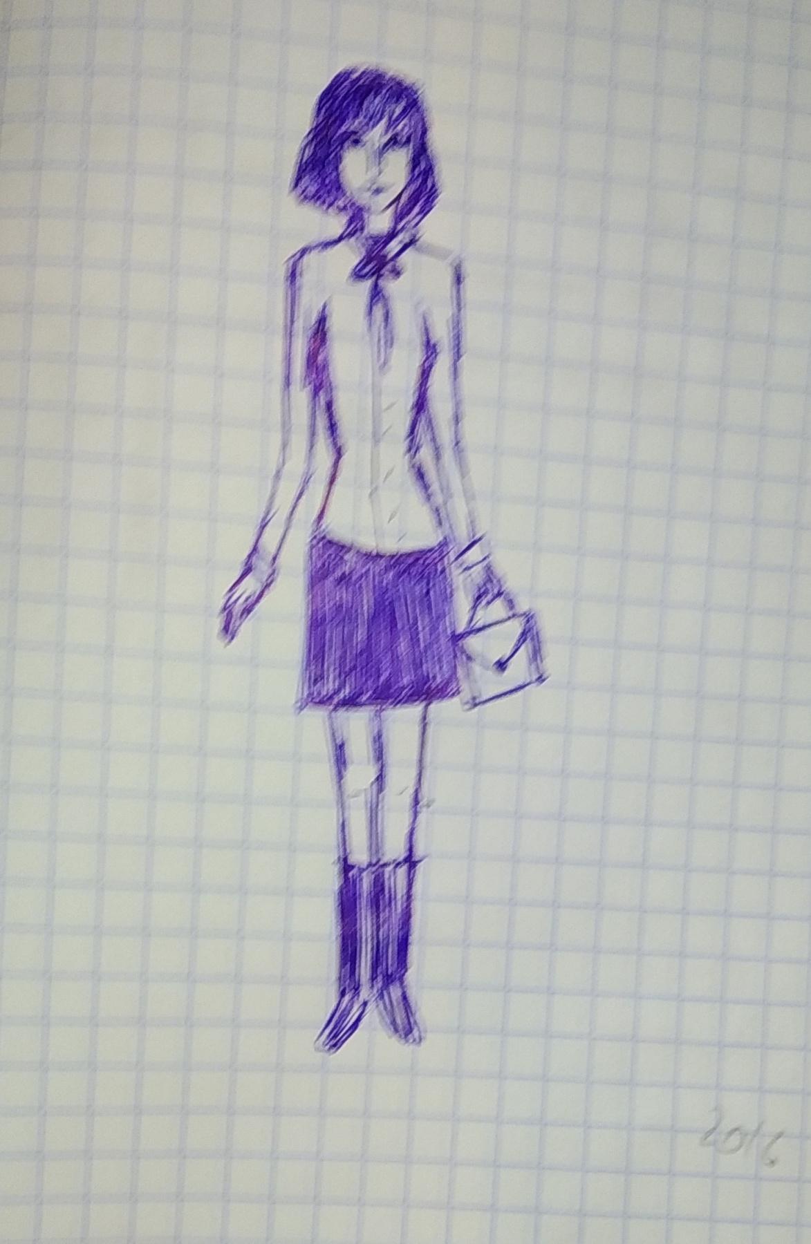 Zina Vladimirovna Parisva. Short-haired girl
