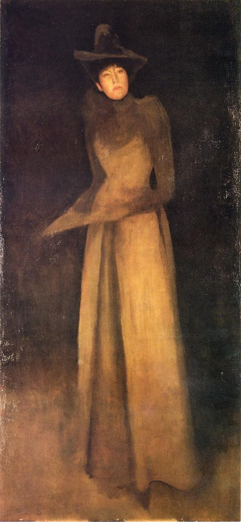 James Abbot McNeill Whistler. Harmony in brown: the Felt hat