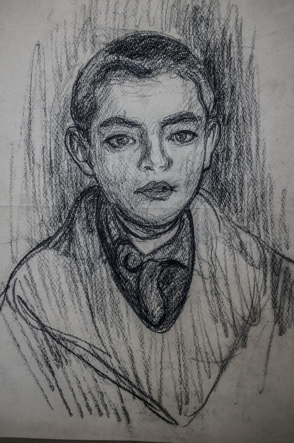 Alexandra Antonovna Gladun. Portrait of Serezha
