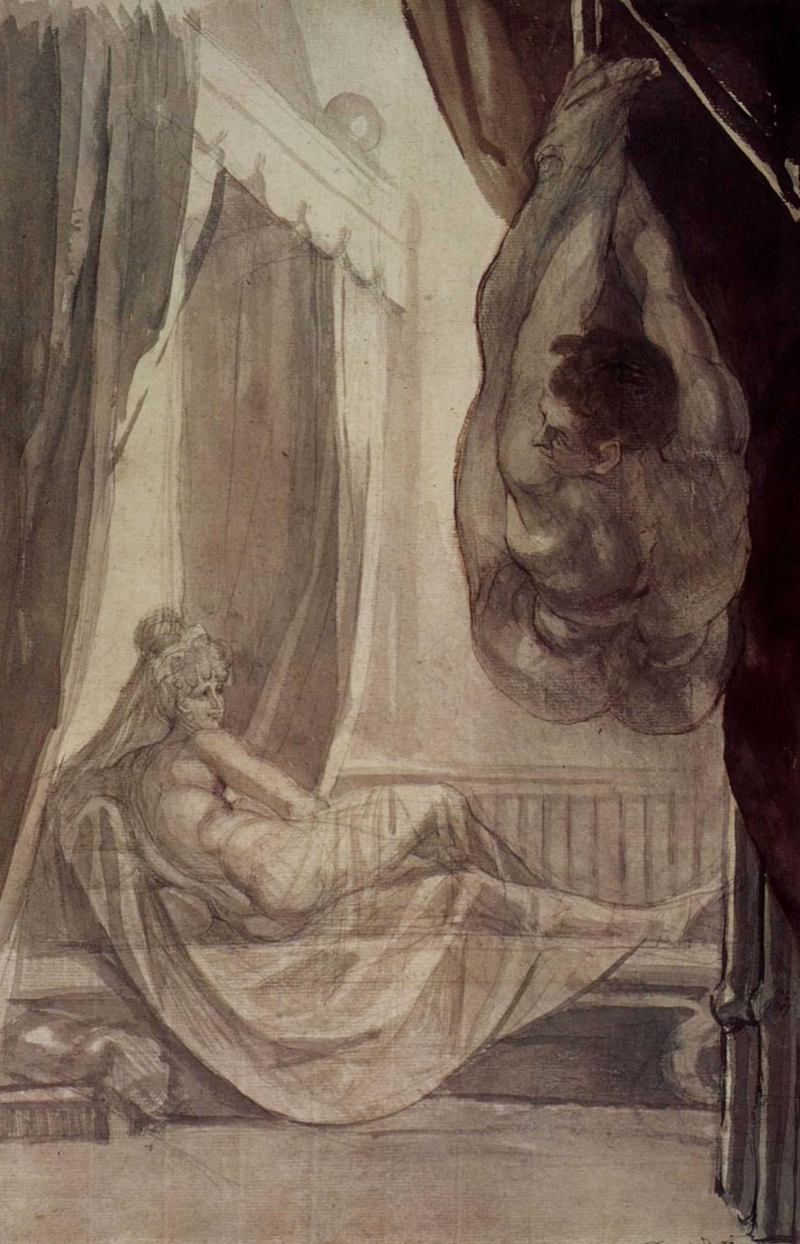 Johann Heinrich Fuessli. Brunhilde watching Gunther