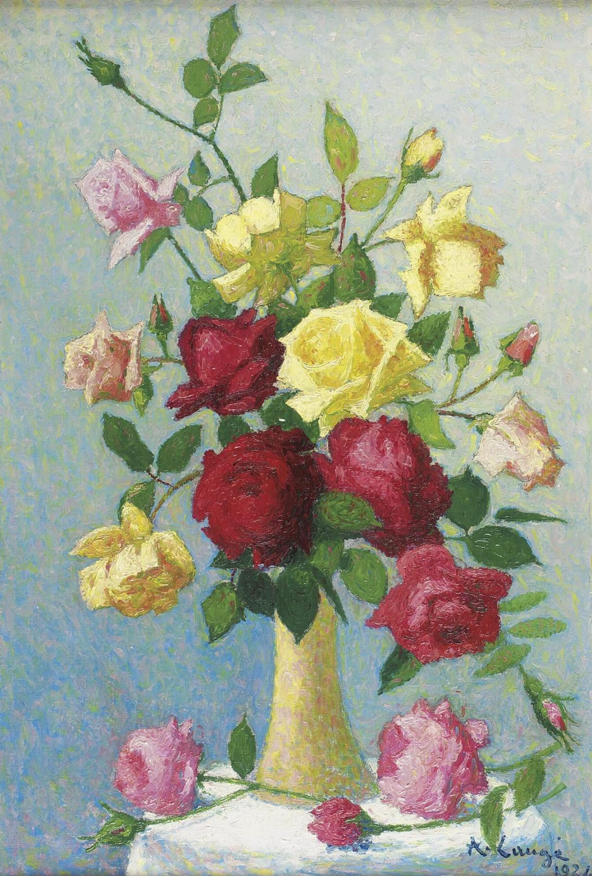 Ashil Lodge. Roses in a vase