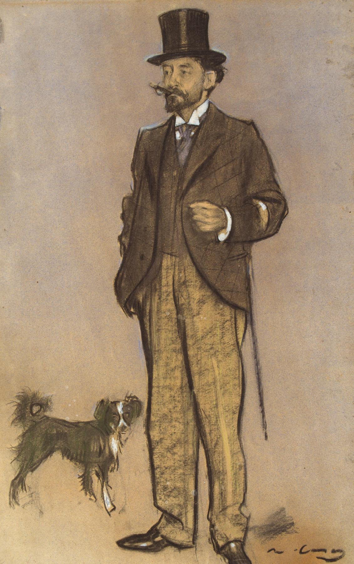 Ramon Casas i Carbó. Portrait of Louis Figuerola