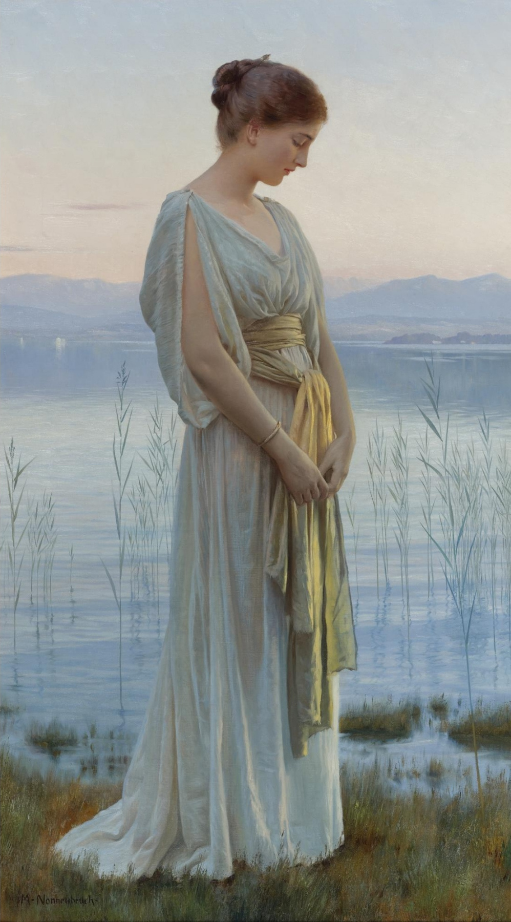 Max Nonnenbruch. Evening by the Lake