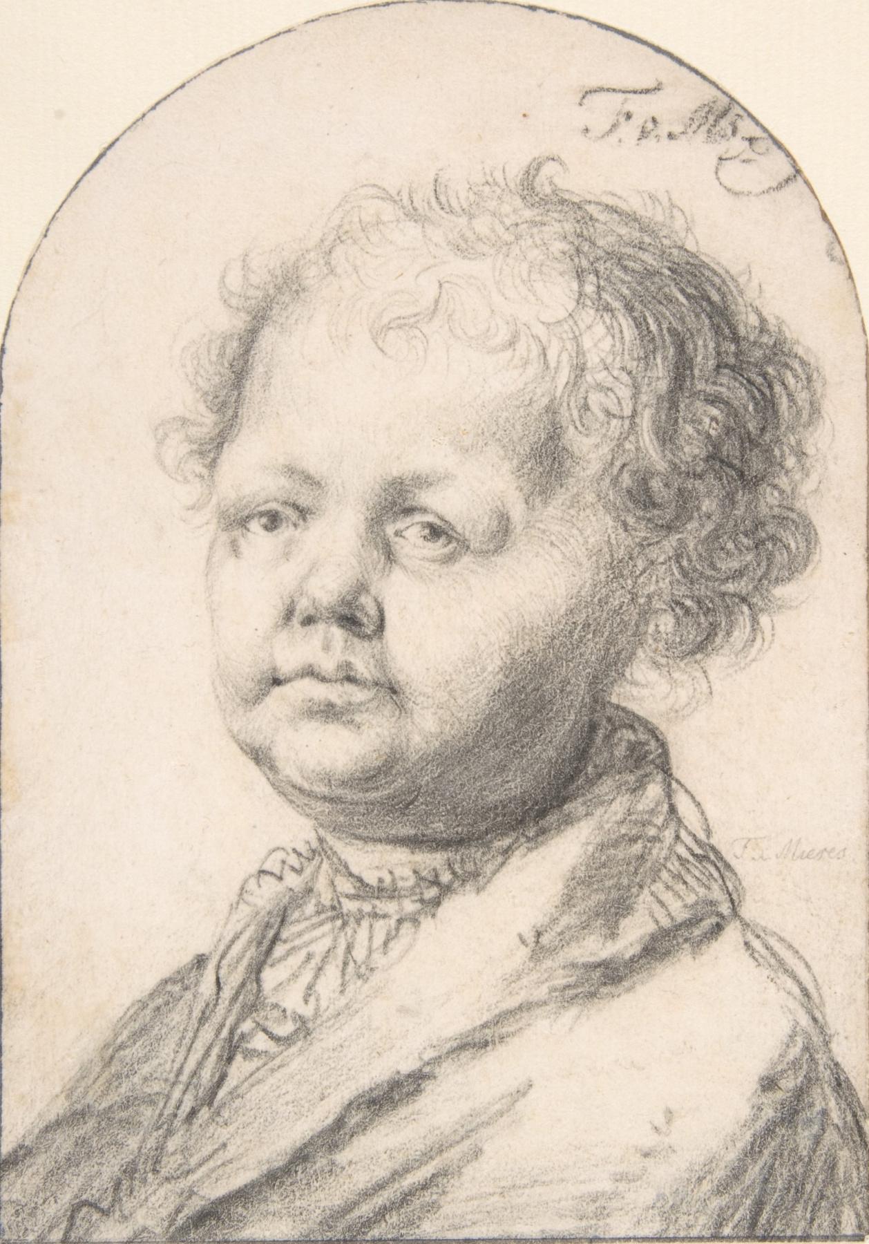 Franz van Miris the Elder. Portrait of a boy