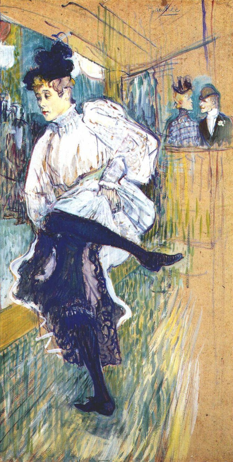 Henri de Toulouse-Lautrec. Jane avril dancing