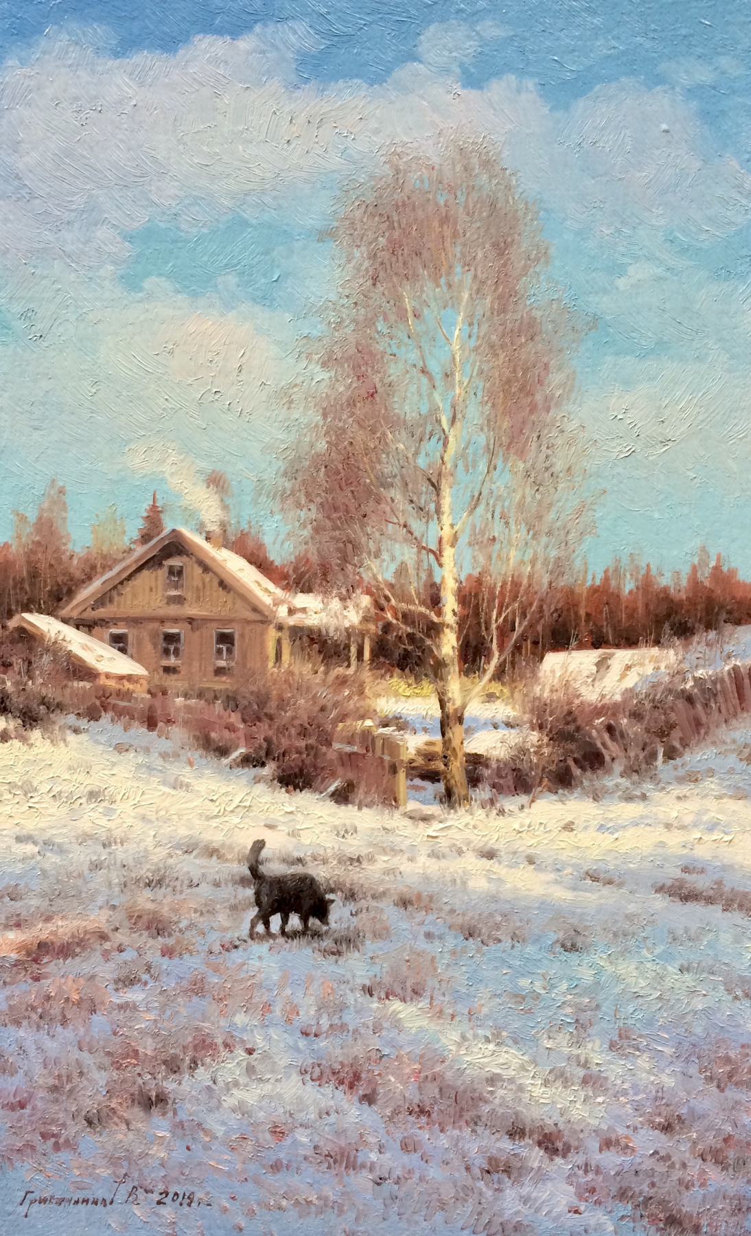 Vasily Ivanovich Gribennikov. Winter. Forester's House