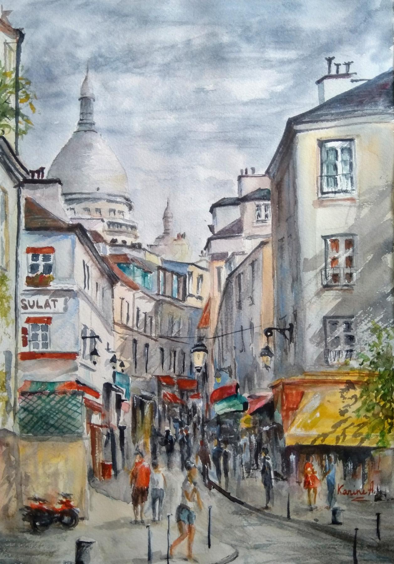 Karine Andriasyan. The beautiful chaos of Montmartre