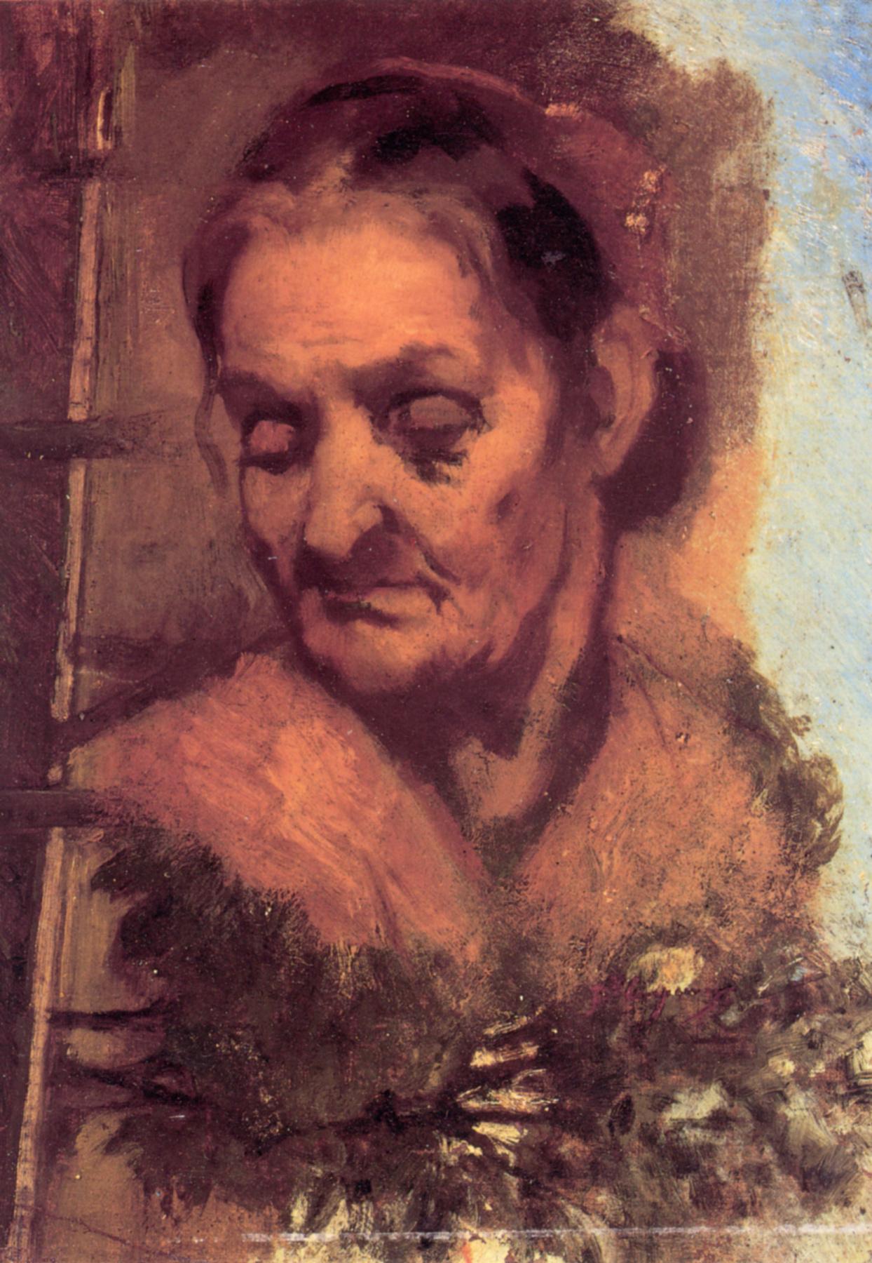 Jean Baptiste Karpo. Portrait of an old woman