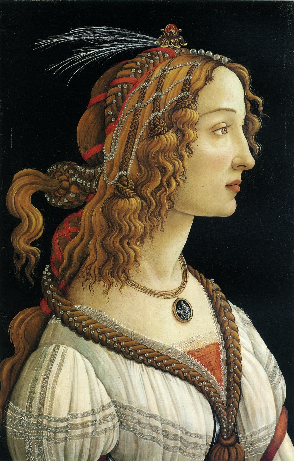 Sandro Botticelli. Idealized portrait of a lady (Simonetta Vespucci)