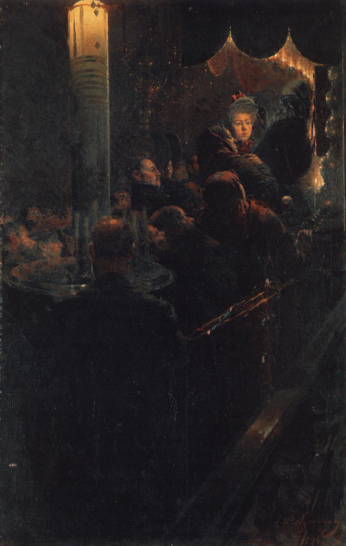 Andrei Petrovich Ryabushkin. At the miraculous icon. 1894