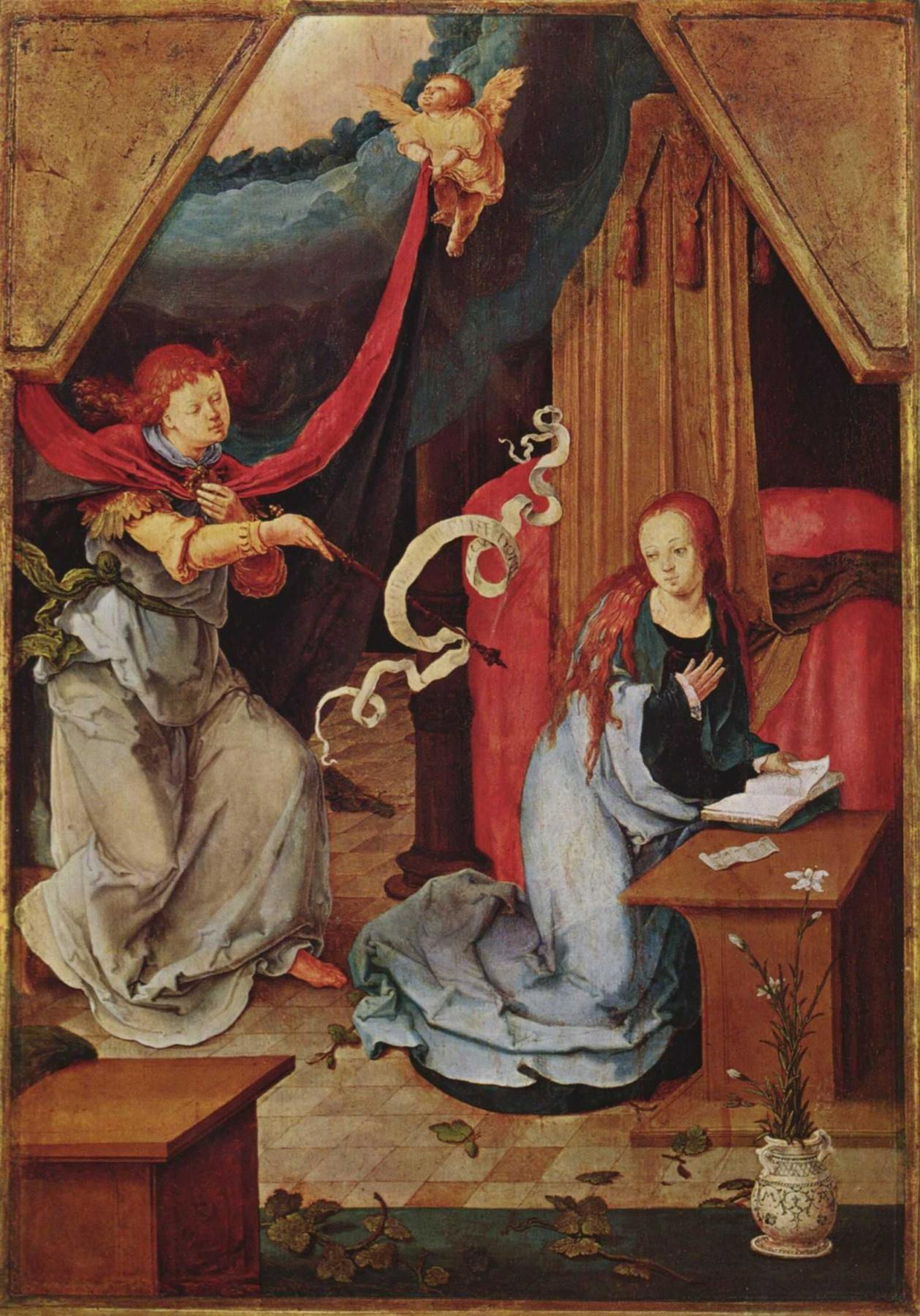 Lucas van Leiden (Luke of Leiden). The Annunciation Of Mary