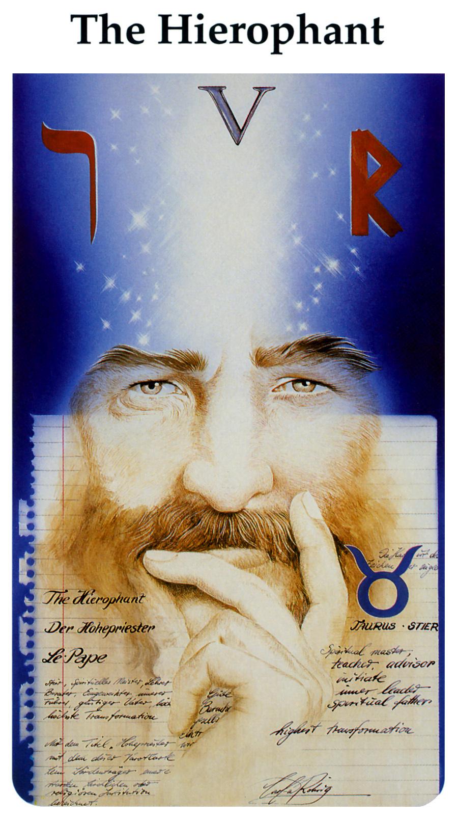 Karl Rohrig. Tarot Of The Third Millennium. The Hierophant