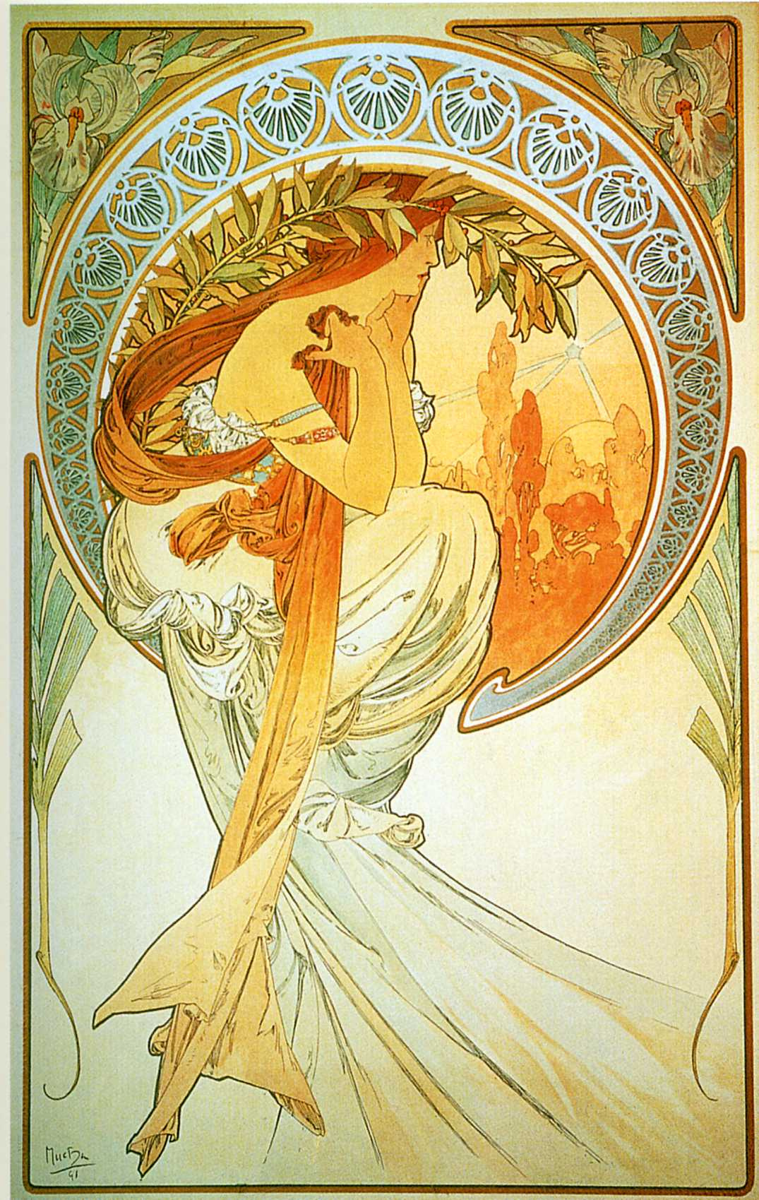 """Alfons Mucha. Poetry. From the series """"Art"""""""