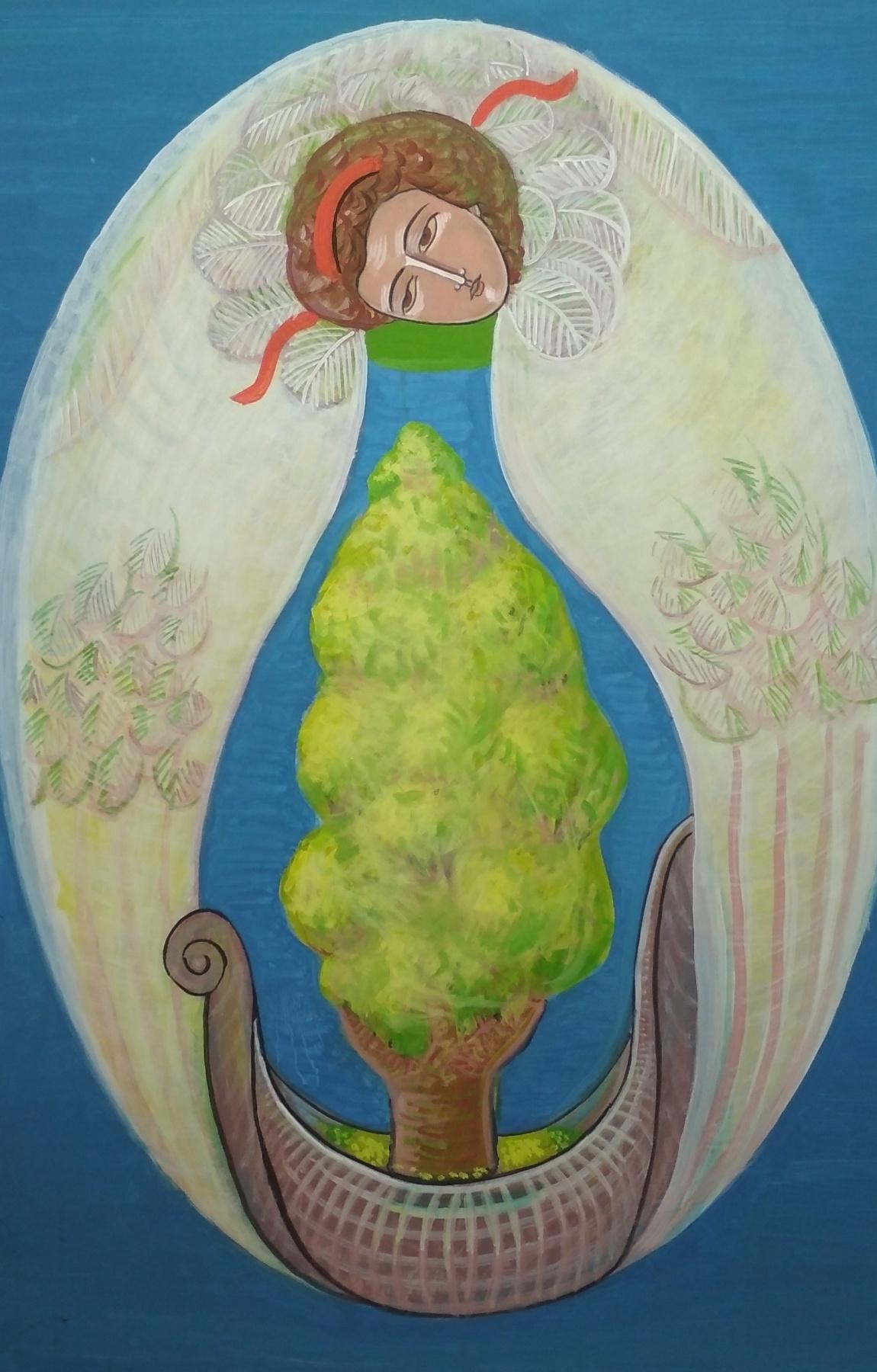 Rostislav Nikolaevich Ivanov. Angel with the Ark of the Seasons - Spring