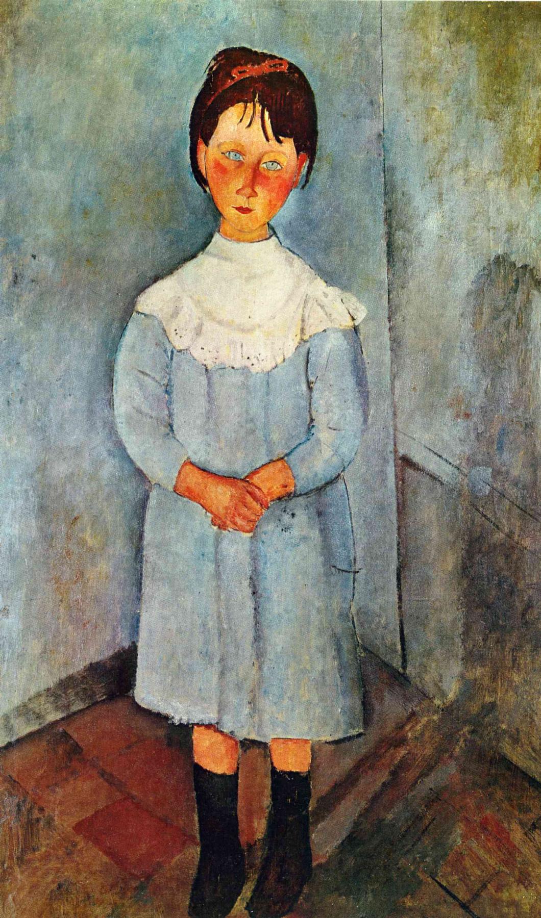 Amedeo Modigliani. Girl in a blue dress