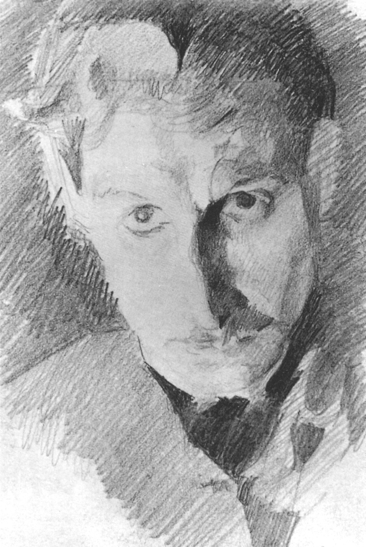 Mikhail Vrubel. A self-portrait. Sketch
