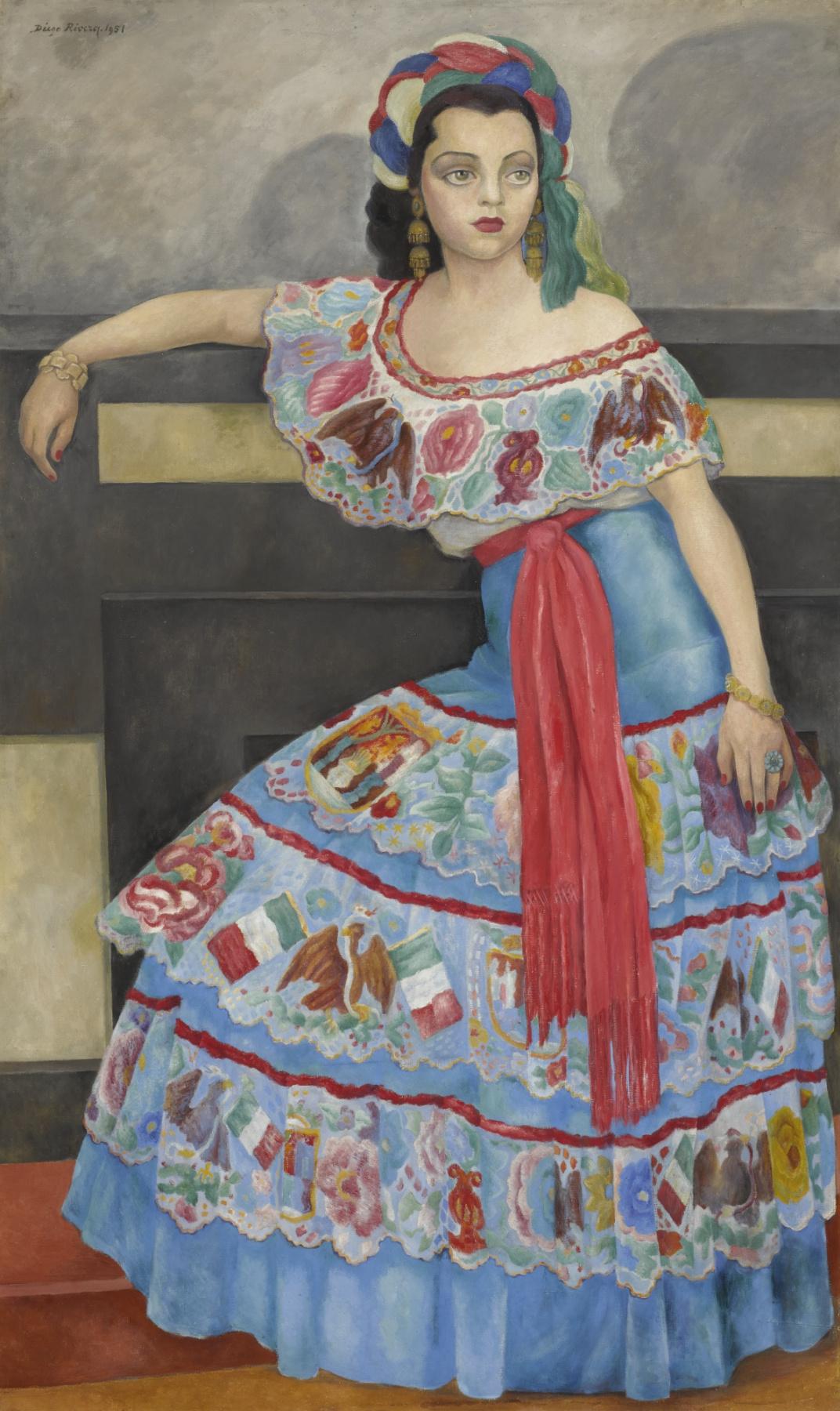 Diego Maria Rivera. Portrait of actress Matilda Palu