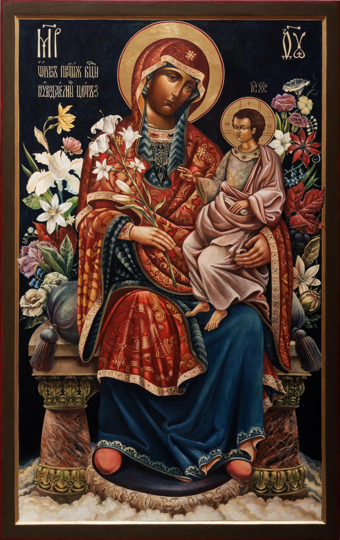 Pavel Leonidovich Korzukhin. Image of the Blessed Virgin Mary Unfading Flower