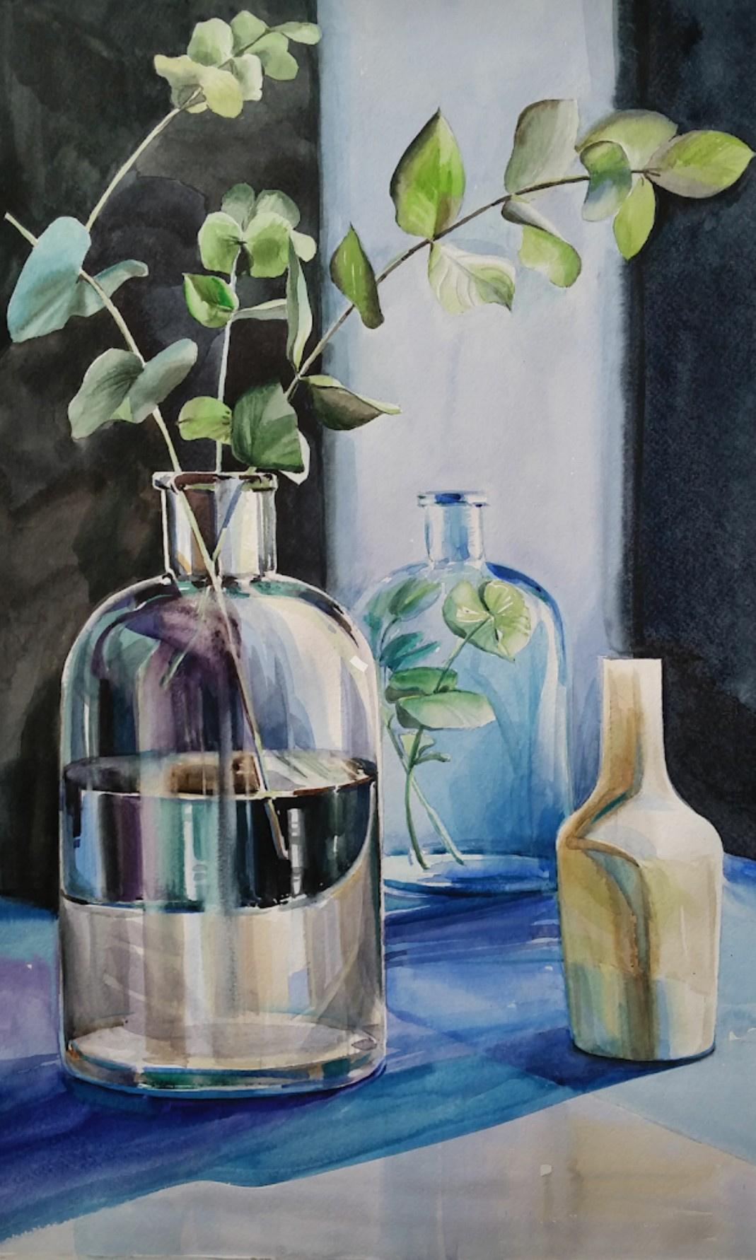 Lika Kondratsionova. Glass still life
