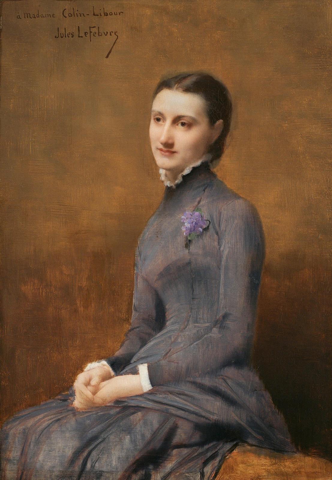 Jules Joseph Lefebvre. Portrait of Madame Colin-Libour.