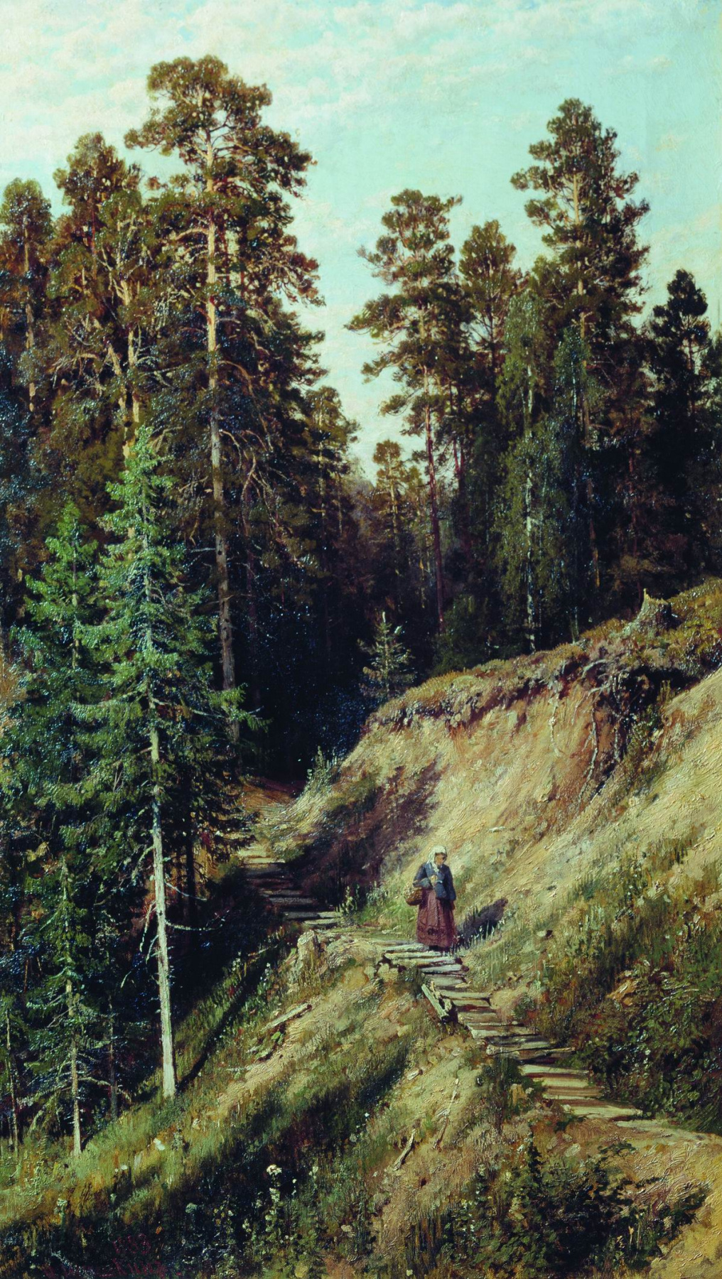 Ivan Shishkin. In the woods. From the forest with mushrooms