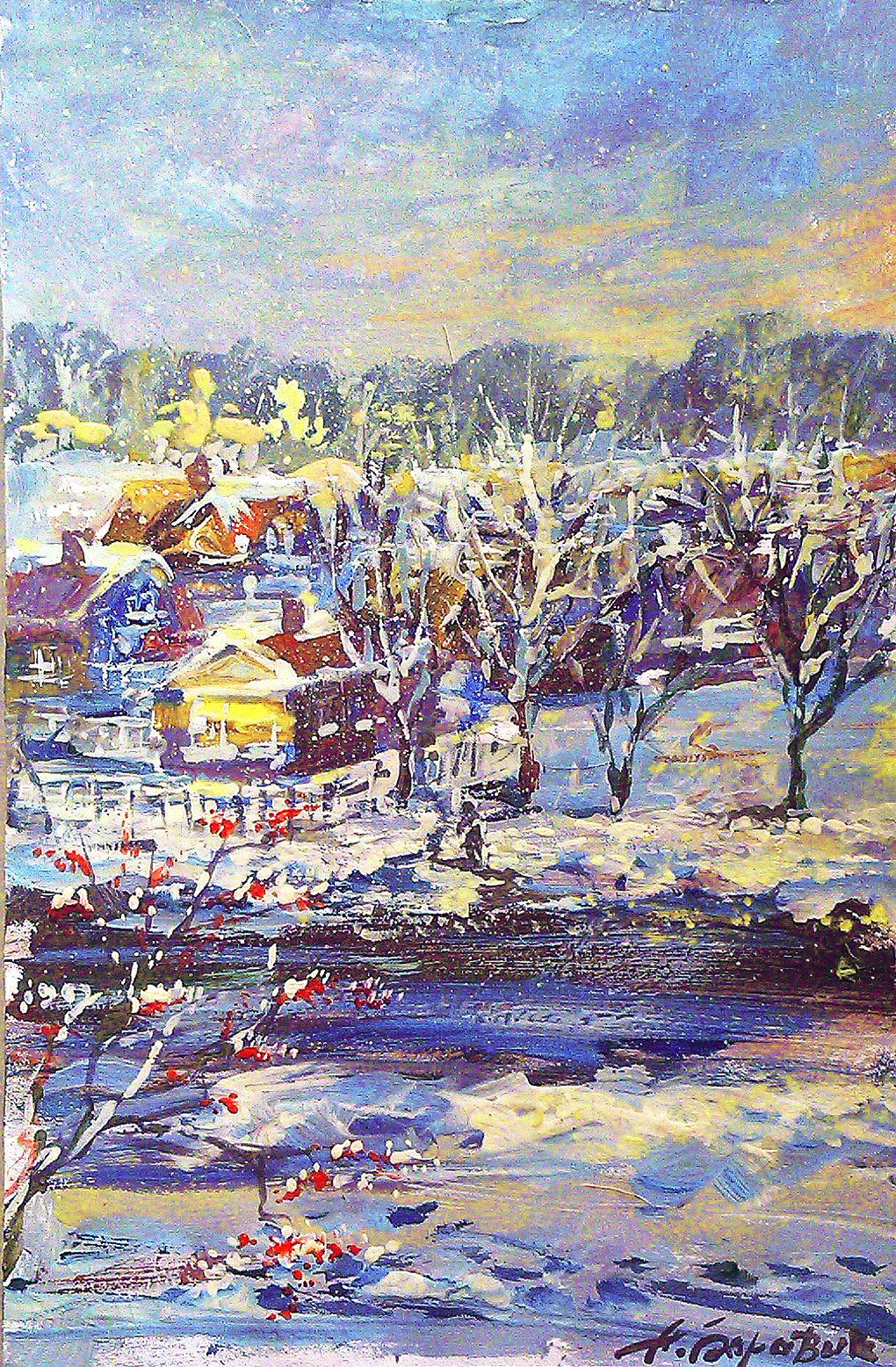 "Andrei Ivanovich Boravik. Study ""Night Is Falling"""