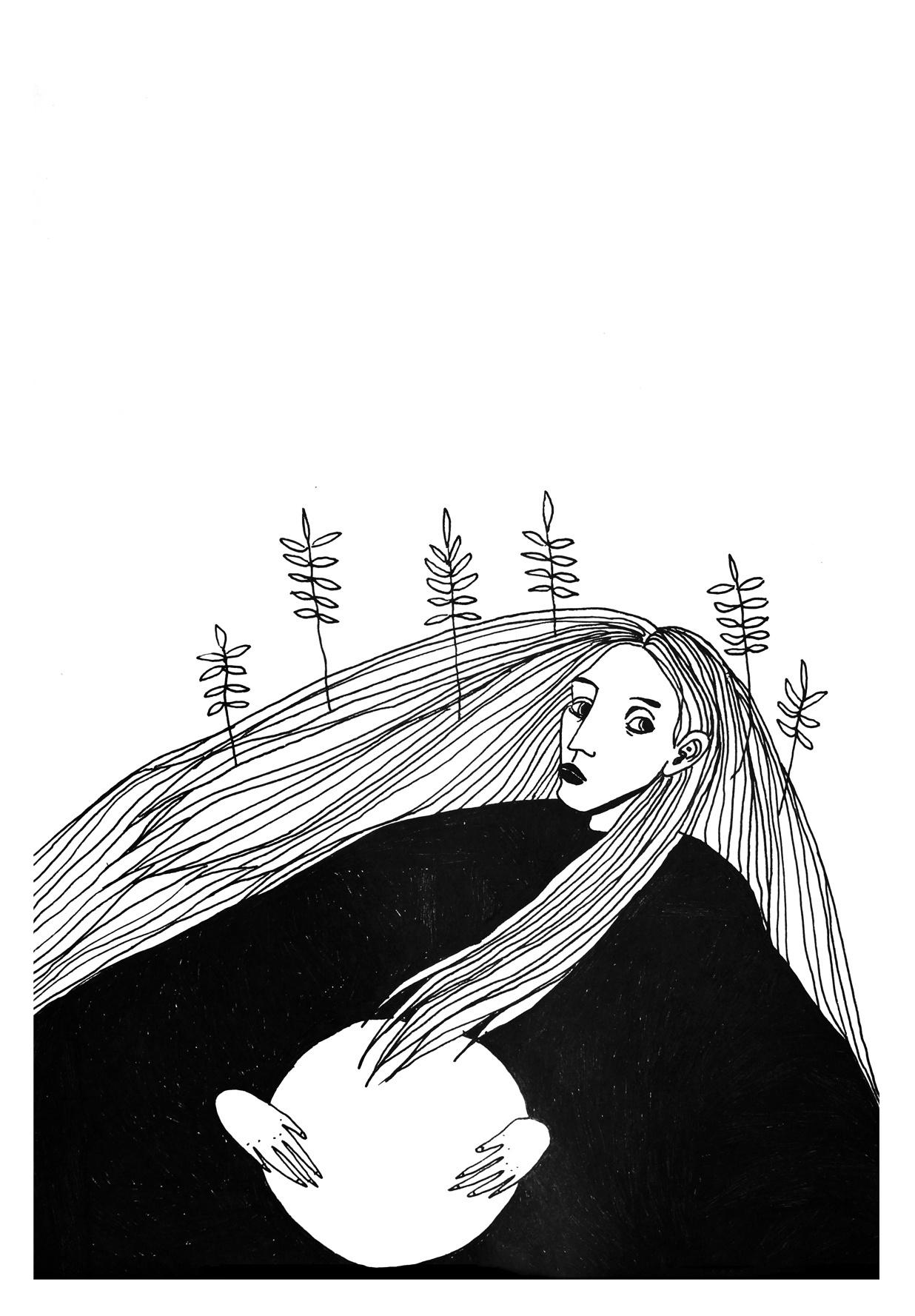 Yana Kuzu. Self-portrait