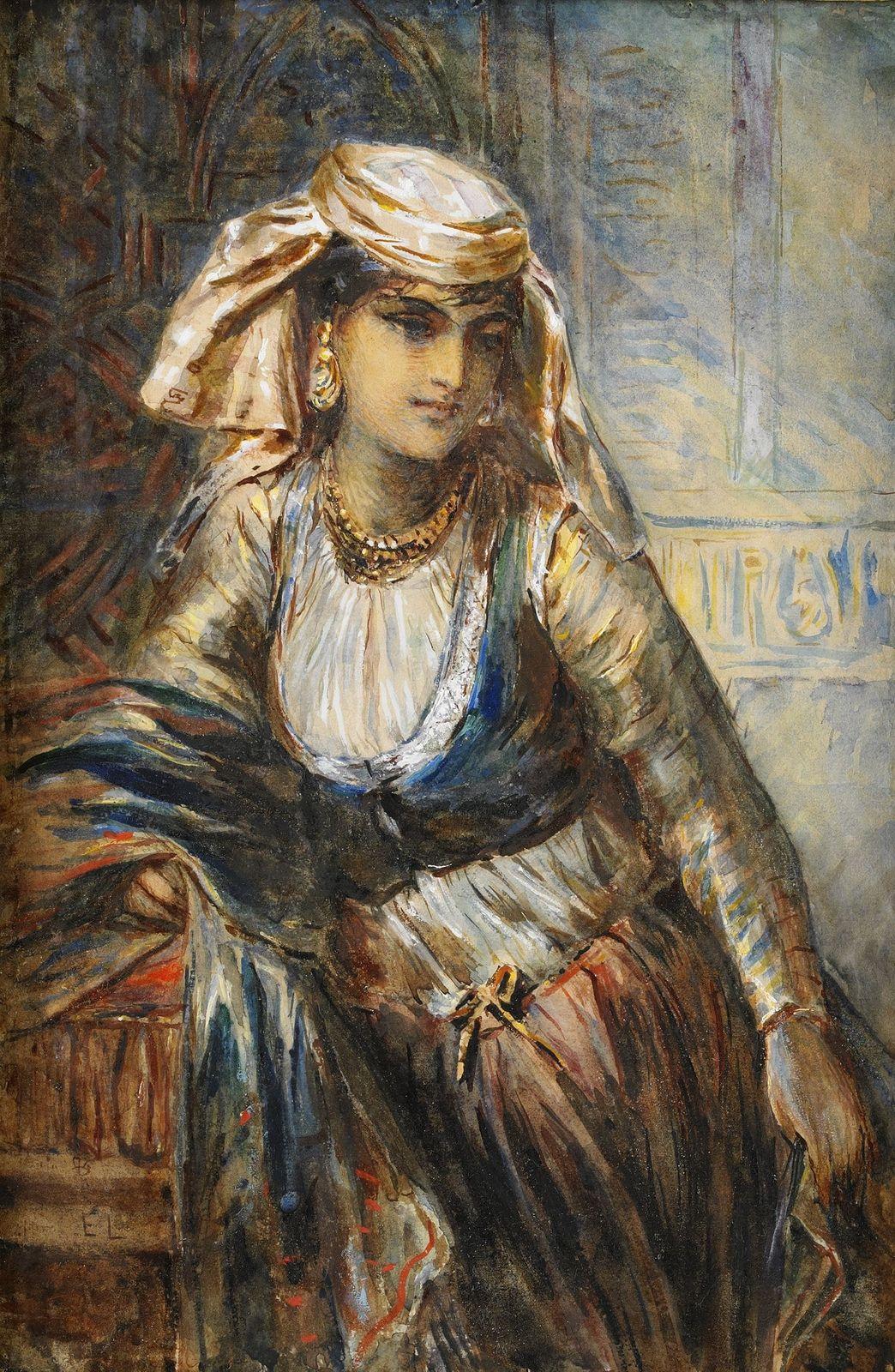 Egron Lundgren. Egyptian girl