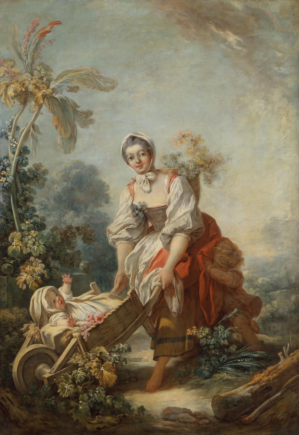 Jean-Honore Fragonard. The joy of motherhood