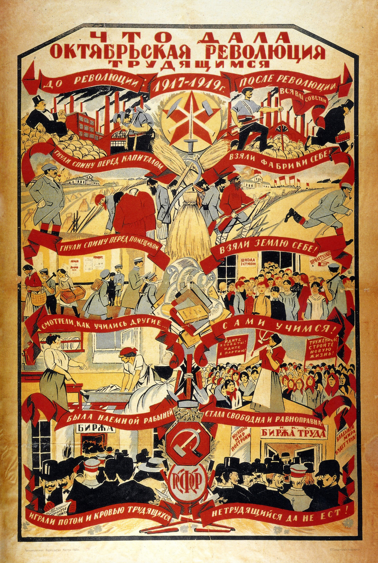 Unknown artist. What gave the October revolution to the working people ...