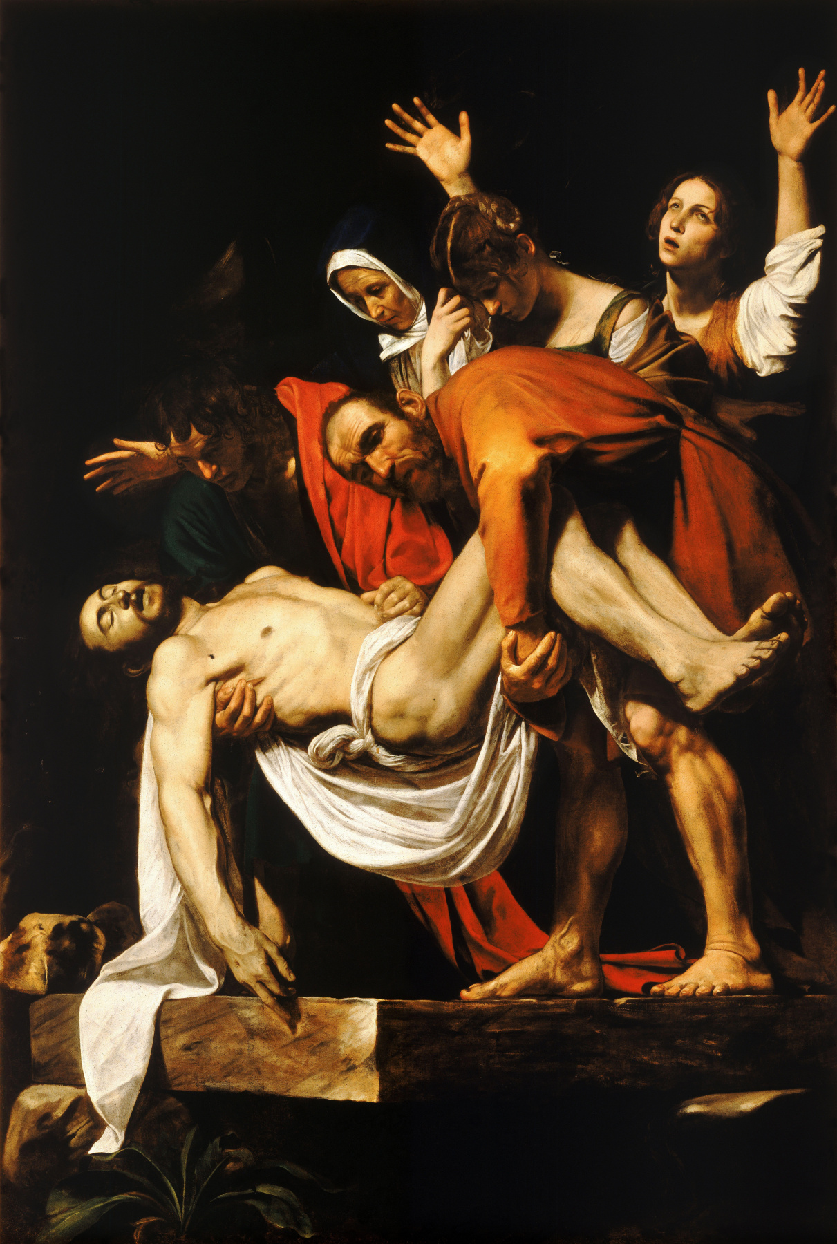 Michelangelo Merisi de Caravaggio. The burial of Christ (the entombment)