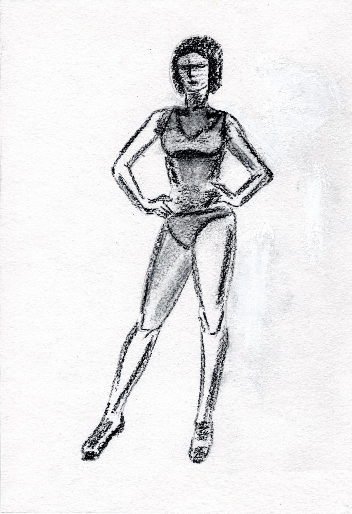 Polina. Woman. Sketch