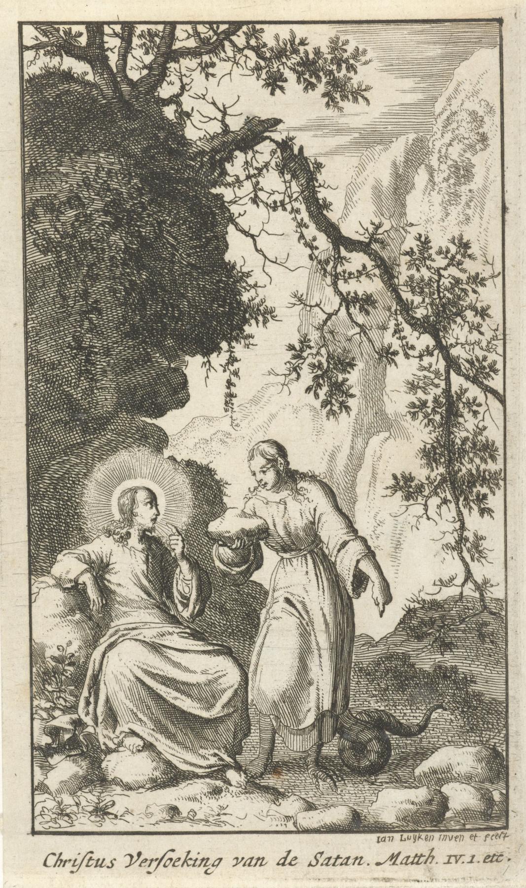 Jan Leuken. Temptation of christ