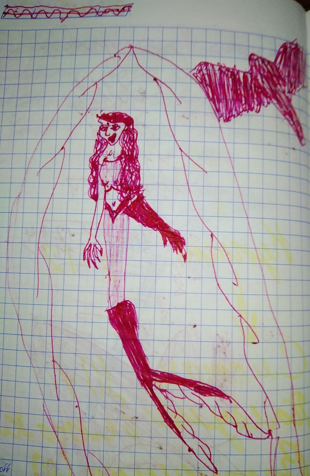 Zina Vladimirovna Parisva. Mermaid with mechanical tail