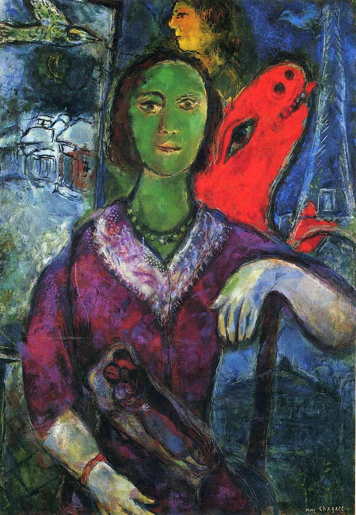 Marc Chagall. Portrait Of Vava