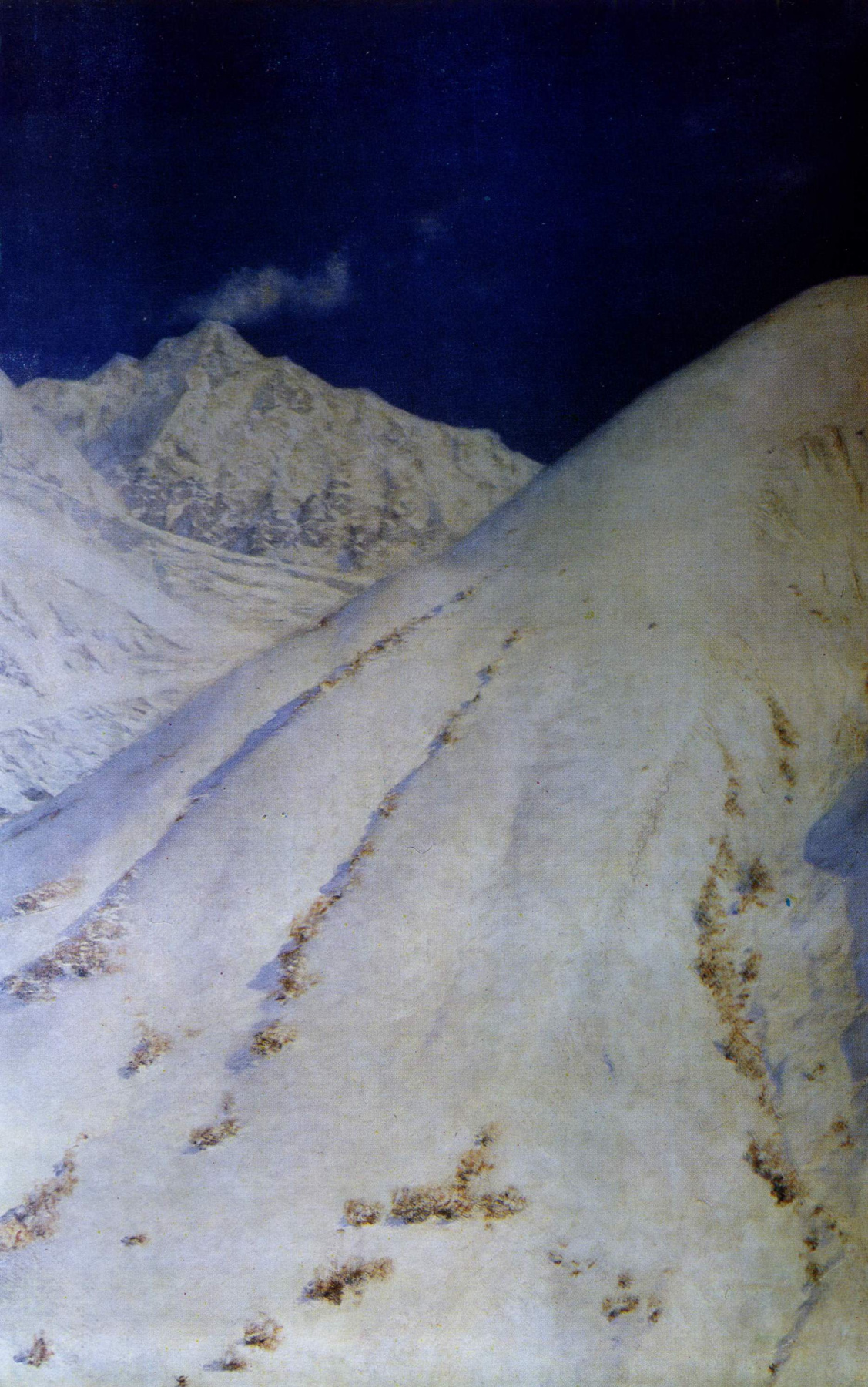 Vasily Vereshchagin. Snow Of The Himalayas. In the top node of the mountains. In Sikkim
