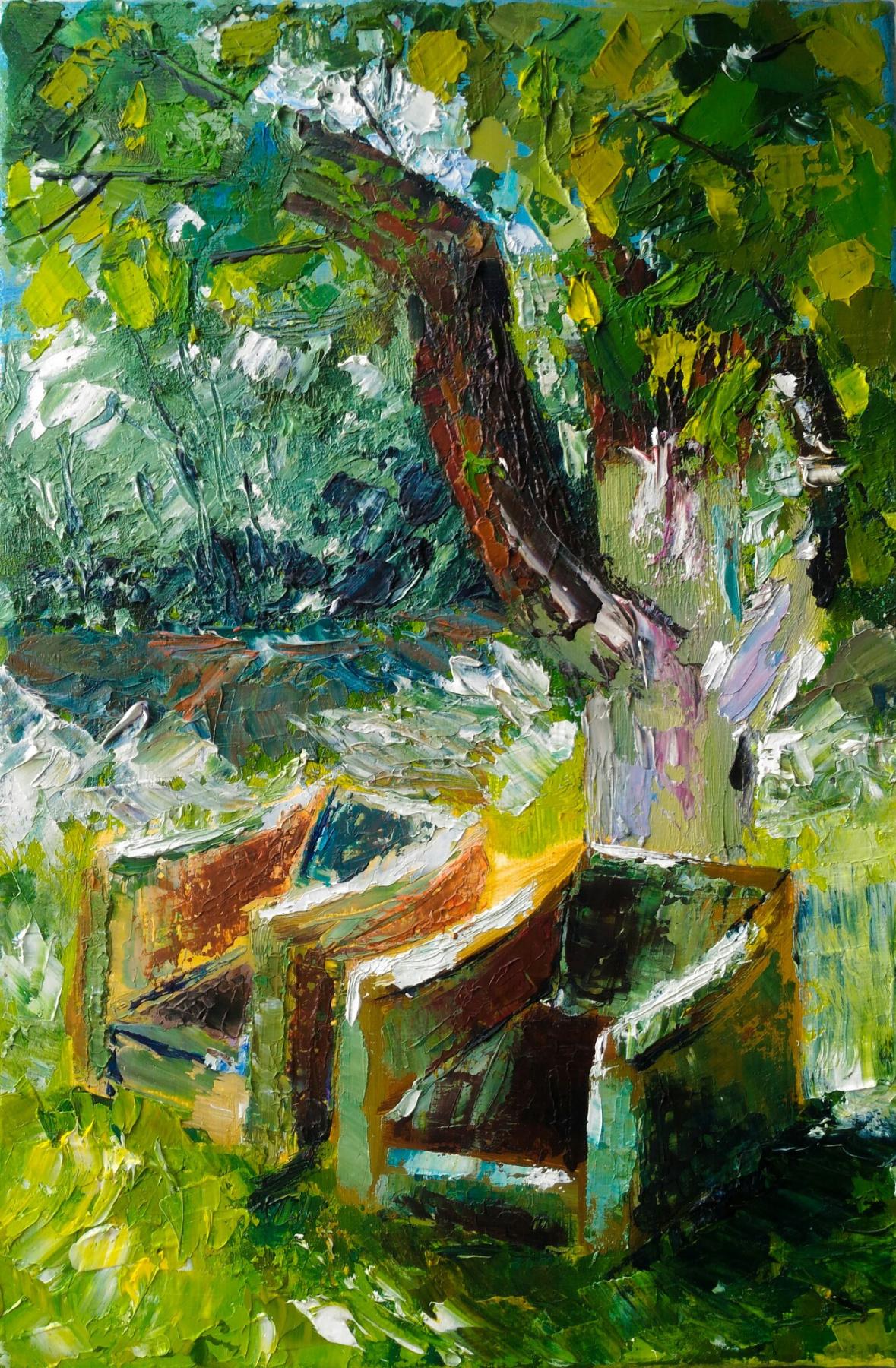 Alina Chekrygina. Summer garden.